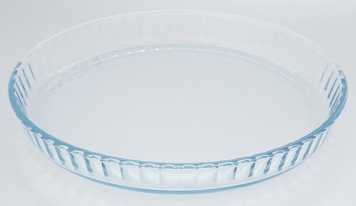 Форма для выпечки Pyrex Bake & Enjoy, круглая, диаметр 27 см813B000/6146Форма для выпечки Pyrex Bake & Enjoy изготовлена из закаленного боросиликатного стекла, что отвечает строгим европейским нормам безопасности EN 1183. Такое стекло обладает повышенной ударопрочностью, жаростойкостью (от -40°С до +300°С) и выдерживает резкий перепад температур в 220°С. Форма также устойчива к образованию пятен и царапин, не впитывает посторонние запахи. Изделие экологично, поэтому безопасно для использования. Форма круглая, с низкими стенками, удобна для приготовления пирогов, кексов и другой выпечки. Внутренние стенки рельефные, что придает выпечке эстетичный внешний вид. Подходит для духовки, микроволновой печи, можно мыть в посудомоечной машине, ставить в холодильник и морозильную камеру. Диаметр формы: 27 см. Высота стенки: 3,5 см.