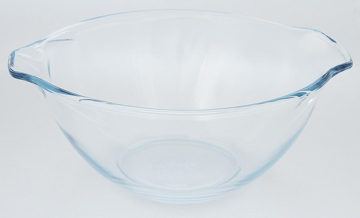 Миска Pyrex Винтаж, 2,5 л404B000/6246Миска Pyrex Винтаж изготовлена из закаленного боросиликатного стекла, что отвечает строгим европейским нормам безопасности EN 1183. Такое стекло обладает повышенной ударопрочностью, жаростойкостью (от -40°С до +300°С) и выдерживает резкий перепад температур в 220°С. Миска также устойчива к образованию пятен и царапин, не впитывает посторонние запахи. Изделие экологично, поэтому безопасно для использования. Посуда отлично подходит для замешивания теста, смешивания жидкостей, перемешивания салатов. Два носика с противоположных сторон обеспечивают комфортное использование. Миска подходит для духовки, микроволновой печи, можно мыть в посудомоечной машине, ставить в холодильник и морозильную камеру. Диаметр миски (по верхнему краю): 23 см. Ширина (с учетом носиков): 27 см. Высота стенки: 11,5 см.