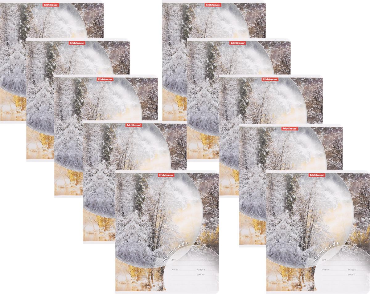 Erich Krause Набор тетрадей Магия природы Зима 24 листа в линейку 10 шт40046_зимаНабор тетрадей Erich Krause Магия природы Зима предназначен для младших школьников. Обложка каждой тетради выполнена из плотного картона с закругленными углами. На обратной стороне обложки имеется справочная информация (русский и английский прописные алфавиты). Внутренний блок тетрадей состоит из 24 листов белой бумаги в линейку. В наборе 10 тетрадей.