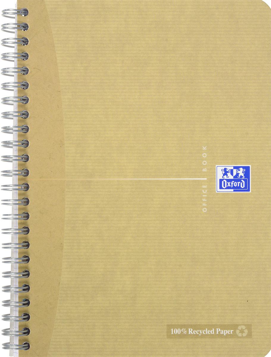 Oxford Тетрадь Эко 90 листов в клетку цвет бежевый817835_бежевыйСтильная практичная тетрадь Oxford Эко отлично подойдет для офиса и учебы. Тетрадь формата А5 состоит из 90 белых листов с четкой яркой линовкой в клетку. Обложка тетради выполнена из матового картона и оформлена символом Оксфордского университета. Двойная спираль надежно удерживает листы. Также тетрадь имеет скругленные углы и гибкую съемную закладку-линейку из матового пластика с изображением фрагмента дерева.
