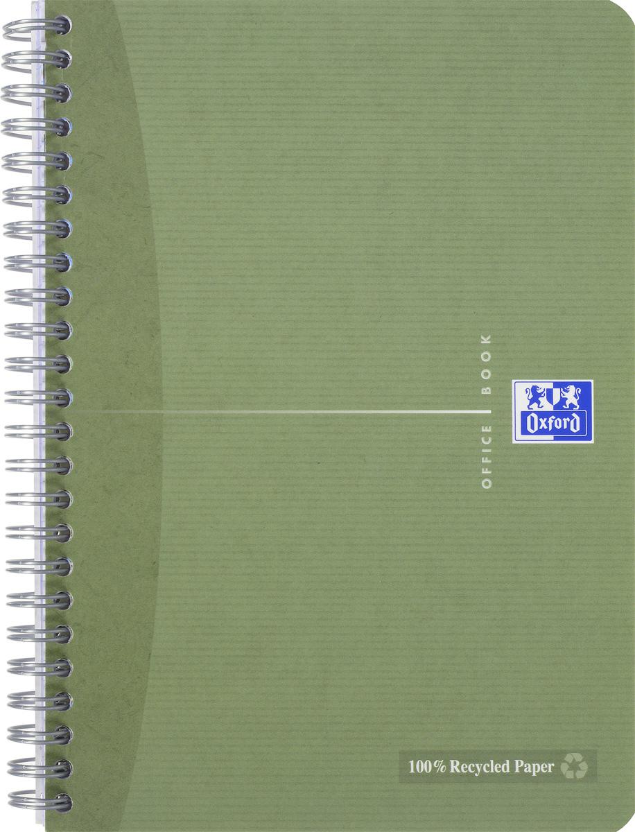 Oxford Тетрадь Эко 90 листов в клетку цвет хаки817835_хакиСтильная практичная тетрадь Oxford Эко отлично подойдет для офиса и учебы. Тетрадь формата А5 состоит из 90 белых листов с четкой яркой линовкой в клетку. Обложка тетради выполнена из матового картона и оформлена символом Оксфордского университета. Двойная спираль надежно удерживает листы. Также тетрадь имеет скругленные углы и гибкую съемную закладку-линейку из матового пластика с изображением фрагмента дерева.