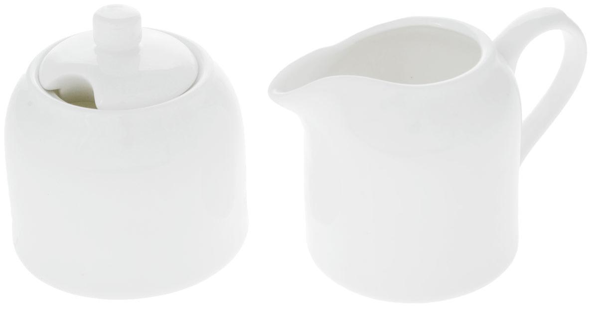 Набор Wilmax: сахарница, молочник. WL-995023 / 2CWL-995023 / 2CНабор Wilmax состоит из сахарницы и молочника, выполненных из высококачественного фарфора. Глазурованное покрытие обеспечивает легкую очистку. Белизна и прочность материала достигаются благодаря добавлению в состав фарфора магния и алюминия, а гладкость и роскошный блеск - результат особой рецептуры глазури. Фарфор легкий, тонкий, свет без труда проникает сквозь стенки посуды. Изделия обладают низкой водопоглощаемостью, высокой термостойкостью и ударопрочностью, а также экологичностью. Посуда долговечна и рассчитана на постоянное интенсивное использование. Оригинальный дизайн и качество исполнения сделают такой набор настоящим украшением стола к чаепитию. Он удобен в использовании и понравится каждому. Можно мыть в посудомоечной машине и использовать в микроволновой печи. Объем молочника: 250 мл. Размер молочника: 7,5 х 12 х 8 см. Объем сахарницы: 280 мл. Диаметр сахарницы (по верхнему краю): 6,5 см. Высота...