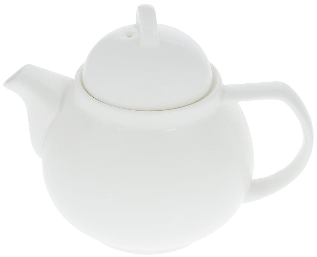 Чайник заварочный Wilmax, 750 мл. WL-994031 / 1CWL-994031 / 1CЗаварочный чайник Wilmax изготовлен из высококачественного фарфора. Глазурованное покрытие обеспечивает легкую очистку. Изделие прекрасно подходит для заваривания вкусного и ароматного чая, а также травяных настоев. Отверстия в основании носика препятствует попаданию чаинок в чашку. Оригинальный дизайн сделает чайник настоящим украшением стола. Он удобен в использовании и понравится каждому. Можно мыть в посудомоечной машине и использовать в микроволновой печи. Диаметр чайника (по верхнему краю): 8 см. Высота чайника (без учета крышки): 10 см. Высота чайника (с учетом крышки): 14,5 см.