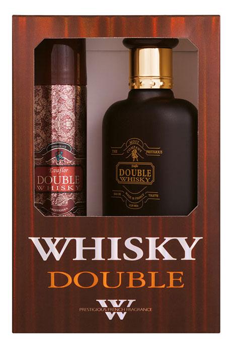 Evaflor Подарочный набор Double Evaflor для мужчин: туалетная вода, 100 мл, дезодорант-спрей, 75 мл33352Double Whisky для мужественных мужчин, предпочитающих крепкие стойкие ароматы. Двойной аккорд: соблазнительный, чувственный с красивым балансом табачных, кожаных и восточных нот. Классификация аромата: древесный. Пирамида аромата: Верхние ноты: бергамот. Ноты сердца: табак, гвоздика. Ноты шлейфа: пачули, амбра, мускус. Ключевые слова: Строгий, насыщенный, мужественный, искренний, элегантный! Характеристики: Объем туалетной воды: 100 мл. Объем дезодоранта: 75 мл. Размер упаковки: 12 х 7 х 18. Производитель: Россия. Туалетная вода - один из самых популярных видов парфюмерной продукции. Туалетная вода содержит 4-10% парфюмерного экстракта. Главные достоинства данного типа продукции заключаются в доступной цене, разнообразии форматов (как правило, 30, 50, 75, 100 мл), удобстве использования (чаще всего - спрей). Идеальна для дневного использования. ...