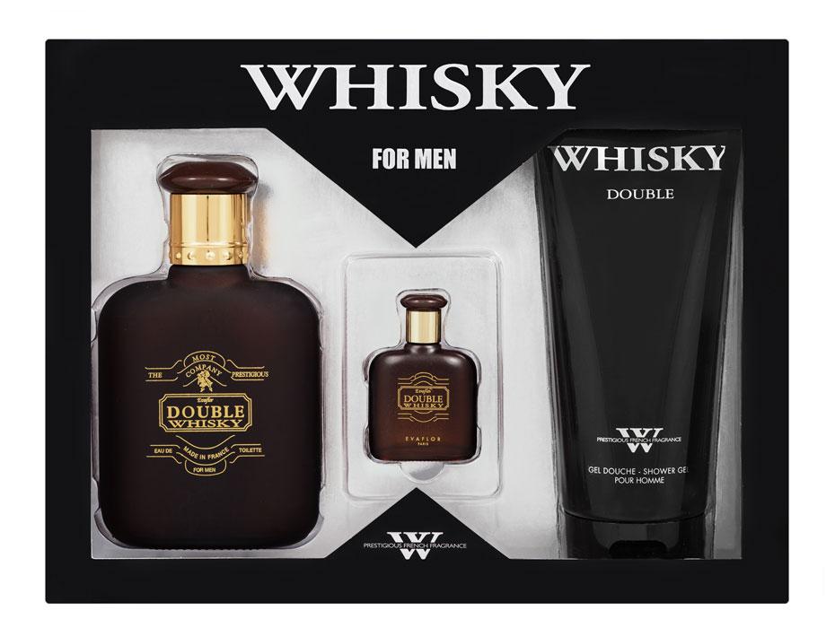 Evaflor Подарочный набор Double Evaflor для мужчин: туалетная вода, 100 мл + 7,5 мл; гель для душа, 200 мл41583Double Whisky для мужественных мужчин, предпочитающих крепкие стойкие ароматы. Двойной аккорд: соблазнительный, чувственный с красивым балансом табачных, кожаных и восточных нот. Классификация аромата : древесный. Пирамида аромата : Верхние ноты: бергамот. Ноты сердца: табак, гвоздика. Ноты шлейфа: пачули, амбра, мускус. Ключевые слова строгий, насыщенный, мужественный, искренний, элегантный! Характеристики: Объем туалетной воды: 100 мл; 7,5 мл. Объем геля: 200 мл. Размер упаковки: 25 см х 5,5 см х 19 см. Производитель: Франция. Туалетная вода - один из самых популярных видов парфюмерной продукции. Туалетная вода содержит 4-10% парфюмерного экстракта. Главные достоинства данного типа продукции заключаются в доступной цене, разнообразии форматов (как правило, 30, 50, 75, 100 мл), удобстве...