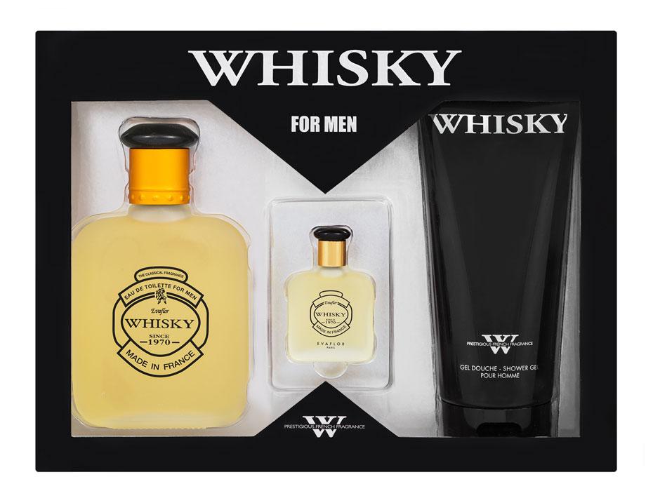Whisky Подарочный набор Whisky для мужчин: туалетная вода, 100 мл + 7,5 мл, гель для душа, 200 мл41582Подарочный набор Whisky состоит из туалетной воды и геля для душа. Whisky - классический аромат, дающий комфортное ощущение свежести и теплоты одновременно. Классификация аромата: древесный. Пирамида аромата: Верхние ноты: бергамот, лаванда, дыня, яблоко. Ноты сердца: кедр, жасмин. Ноты шлейфа: сандал, мох, мускус. Ключевые слова: благородный, мужественный и открытый!
