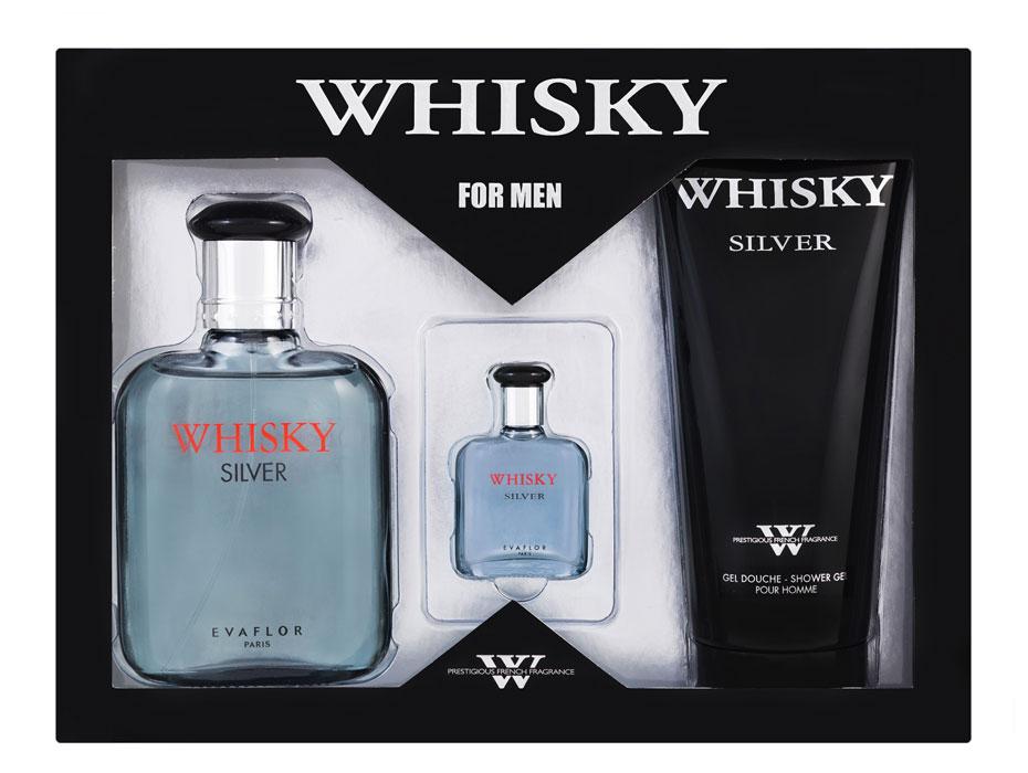 Whisky Подарочный набор Whisky Silver для мужчин: туалетная вода, 100 мл + 7,5 мл; гель для душа, 200 мл41584Аромат Whisky Silver - выбор современного мужчины. Наполняет прохладой и свежестью. Классификация аромата: древесный. Пирамида аромата: Верхние ноты: бергамот, лимон, мандарин. Ноты сердца: морская нота, фрезия, цикламен. Ноты шлейфа: кедр, пачули, мускус. Ключевые слова: прохладный и бодрящий, с серебряными искрами свежей морской воды!