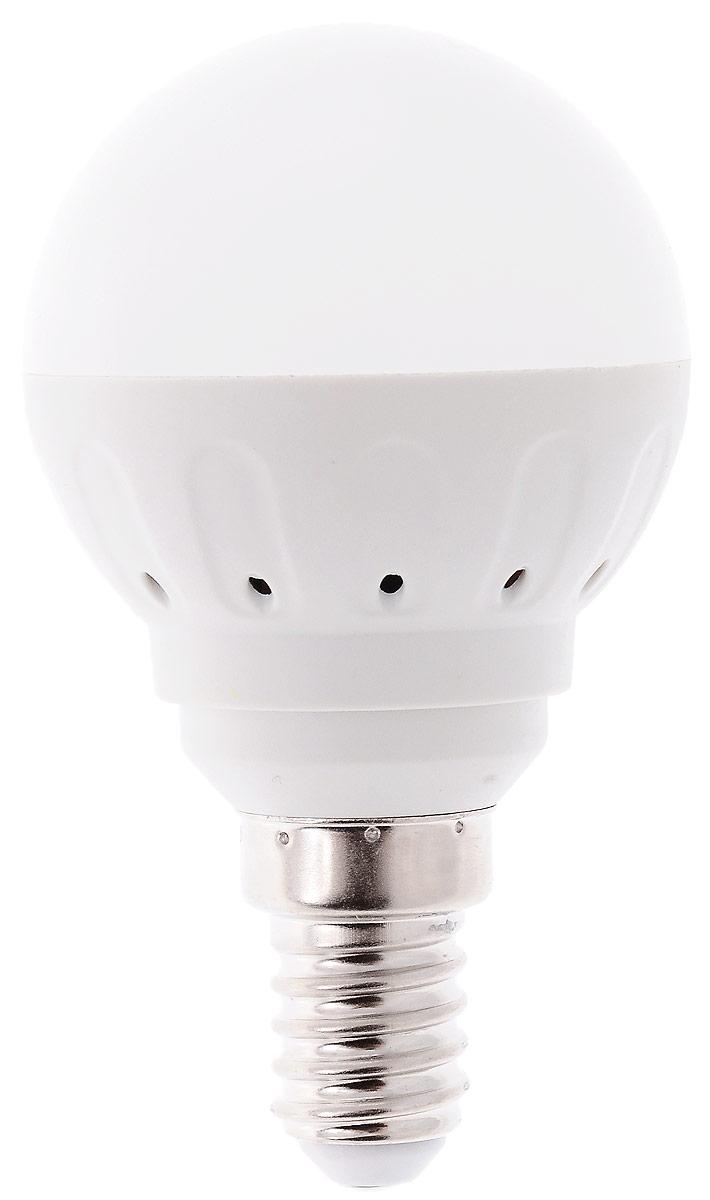 Лампа светодиодная Космос, белый свет, цоколь E14, 3WLksm_LED3wGL45E1445Светодиодная лампа Космос отличается низким энергопотреблением. Срок службы лампы 30000 часов, это в 30 раз дольше, чем у лампы накаливания. Устойчива к вибрациям и высоким перепадам температур. Обладает высокой механической прочностью и вибростойкостью. Характеризуется отсутствием ультрафиолетового и инфракрасного излучений. Эквивалентна лампе накаливания мощностью 40 Вт. Светит рассеянным светом как обычная лампа. Подходит для всех светильников. Номинальное напряжение: 220-240 В. Номинальная частота: 50/60 Гц. Рабочий ток: 0,0035 А. Угол рассеивания: 270°. Срок службы: 30 000 ч. Стабильная работа при температуре: от -40°С до +50°С.