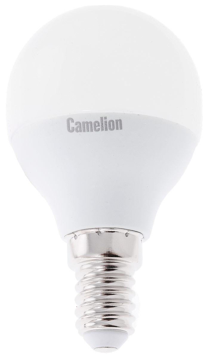 Лампа светодиодная Camelion, LED7-G45/830/E1412069Светодиодная лампа Camelion - это инновационное решение, разработанное на основе новейших светодиодных технологий (LED) для эффективной замены любых видов галогенных или обыкновенных ламп накаливания во всех типах осветительных приборов. Она хорошо подойдет для освещения квартир, гостиниц и ресторанов. Лампа не содержит ртути и других вредных веществ, экологически безопасна и не требует утилизации, не выделяет при работе ультрафиолетовое и инфракрасное излучение. Напряжение: 220-240 В / 50 Гц. Индекс цветопередачи (Ra): 77+. Угол светового пучка: 220°. Использовать при температуре: от -30° до +40°.