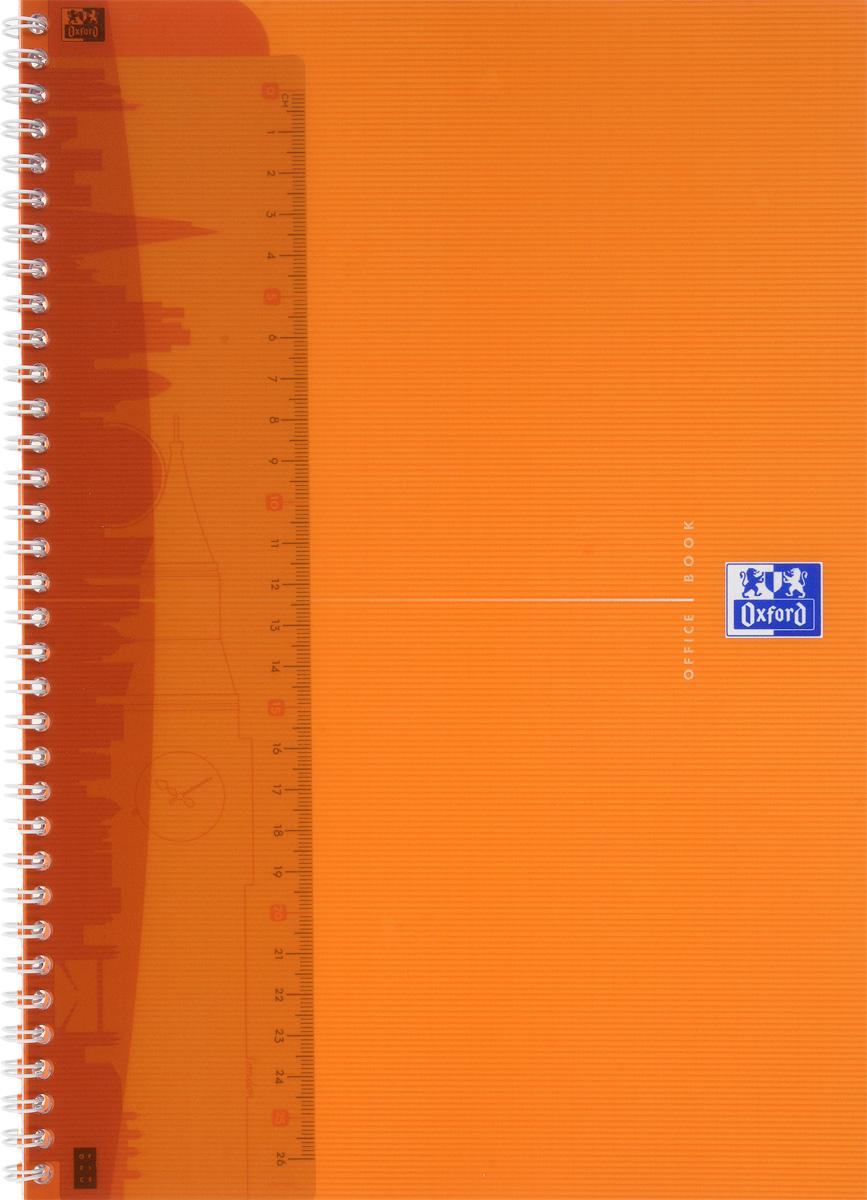 Oxford Тетрадь My Colours 50 листов в клетку цвет оранжевый817832_оранжевыйКрасивая и практичная тетрадь Oxford My Colours отлично подойдет для офиса и учебы. Тетрадь формата А4 состоит из 50 белых листов с четкой яркой линовкой в клетку. Обложка тетради выполнена из плотного полипропилена и оформлена символом Оксфордского университета. Двойная спираль надежно удерживает листы. Также тетрадь имеет скругленные углы и гибкую съемную закладку-линейку из матового прозрачного пластика.