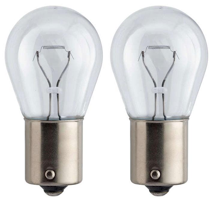 Лампа автомобильная галогенная сигнальная Philips Vision, цоколь BA15s, 12V, 21W, 2 шт12498B2 (бл.)Автомобильная лампа Philips Vision изготовлена из запатентованного кварцевого стекла с УФ-фильтром Philips Quartz Glass. Кварцевое стекло в отличие от обычного стекла выдерживает гораздо большее давление и больший перепад температур. При попадании влаги на работающую лампу, лампа не взрывается и продолжает работать. Лампа Philips Vision производит на 30% больше света по сравнению со стандартной лампой, благодаря чему стоп-сигналы или указатели поворота будут заметны с большего расстояния. Применение лампы: - передний указатель поворота; - задний указатель поворота; - фонарь подсветки государственного регистрационного знака; - задний противотуманный фонарь; - габаритный фонарь/стояночный фонарь; - стоп-сигнал; - дневные ходовые огни; - задний фонарь. Лампа Philips Vision отличается высокой эффективностью, соответствуя всем современным требованиям.
