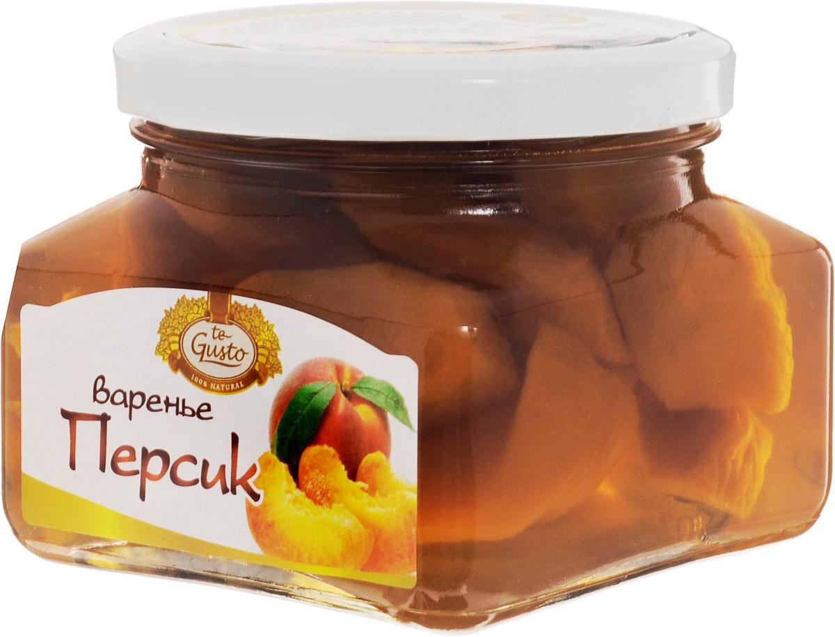 te Gusto Варенье из персика, 430 г4657155300569Персик обладает полезными и лечебными свойствами для организма, благодаря чему персик широко используется в народной и традиционной медицине. У персика очень полезный состав. Он содержит органические кислоты: яблочная, винная, лимонная, минеральные соли, такие как калий, железо, фосфор, марганец, медь, цинк, селен и магний. Персики богаты хорошим витаминным комплексом: витамин С, витамины группы В, Е, К, РР, а также каротин. В состав персиков также входят пектины и эфирные масла. Очень полезны косточки персика, так как в них содержится горькое миндальное масло и знаменитый витамин В17. Персик - очень ценный продукт в рационе питания человека. Мякоть плодов персика очень сочная, ароматная, освежающая, питательная, легко усваивается. Персик считается деликатесным фруктом. Персик рекомендуют детям, а также ослабленным после болезни лицам для улучшения аппетита. Персики обязательно нужно включать в рацион питания при склонности к запорам и при изжогах. Они усиливают секреторную...