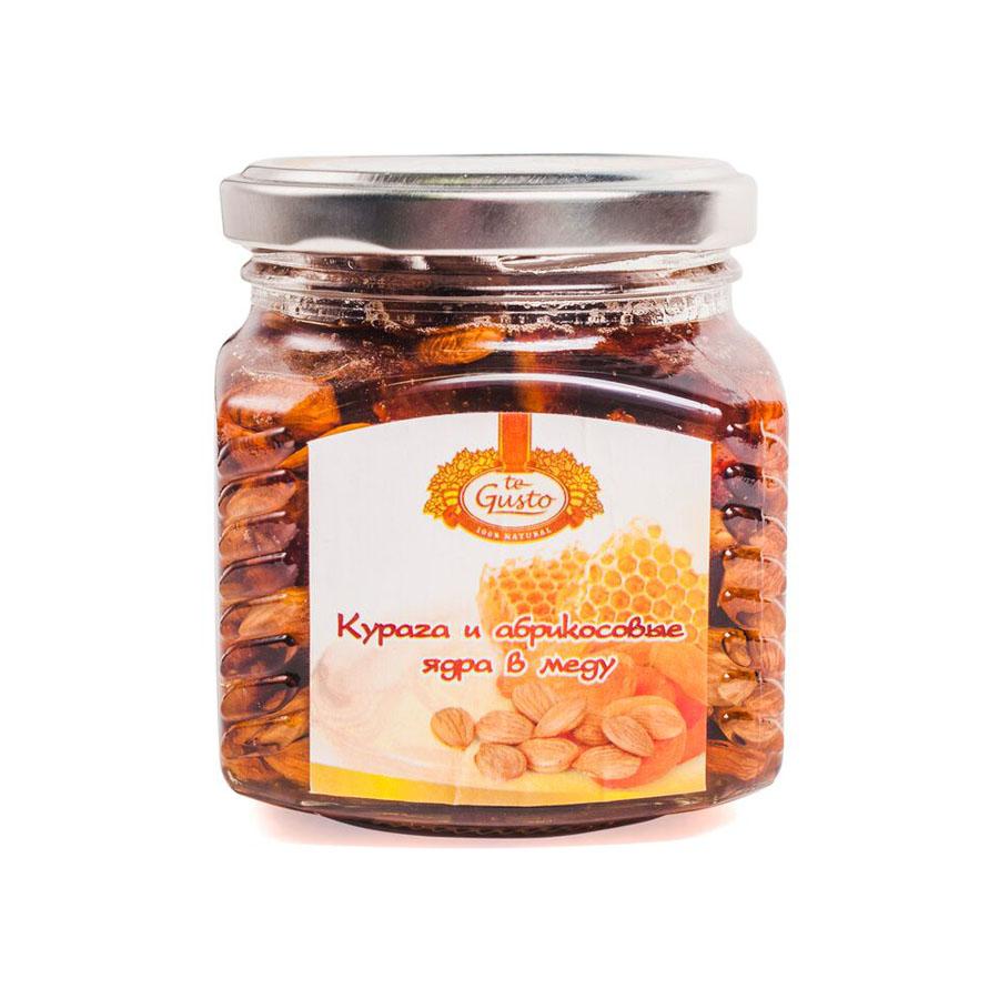 te Gusto Курага и абрикосовые ядра в меду, 300 г