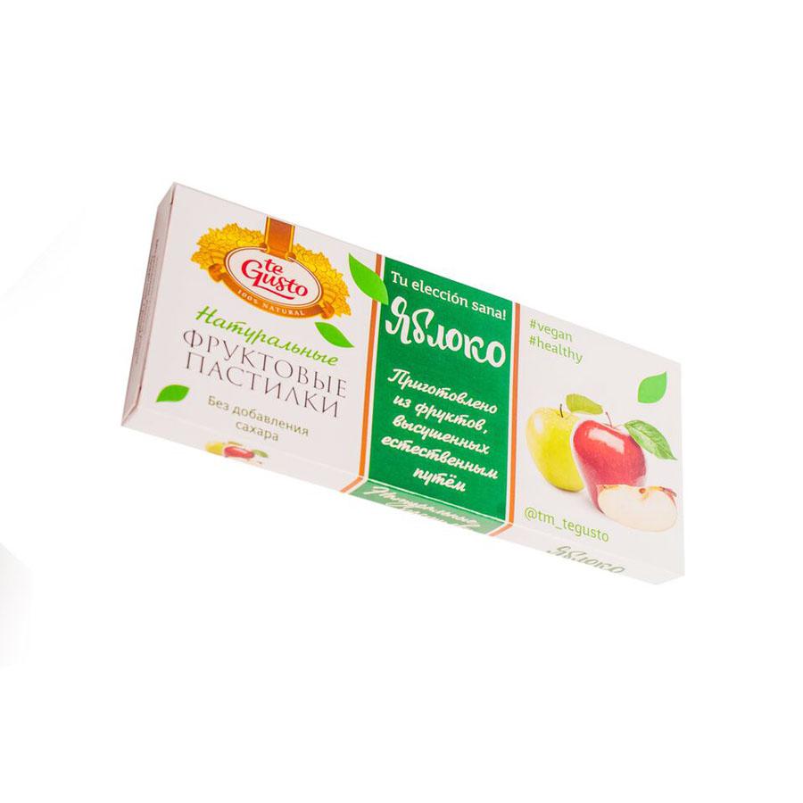 Фруктовые пастилки te Gusto без ГМО, глютена, сои, сахара, фруктозы, красителей, усилителей вкуса, загустителей. В составе только один ингредиент – плод, выращенный в экологически чистом районе. Особый способ измельчения плодов позволяет сохранить витамины в первозданном виде.Данный продукт создан для людей, ведущих здоровый образ жизни и уделяющих большое внимание своему питанию.Для спортсменов это полезный и питательный перекус, для вегетарианцев – сладость, не содержащая продуктов животного происхождения, для детей – натуральное лакомство, которое единожды попробовав, они предпочитают шоколадкам, и для всех, вне зависимости от возраста и систем питания – здоровый продукт без красителей, консервантов и подсластителей.