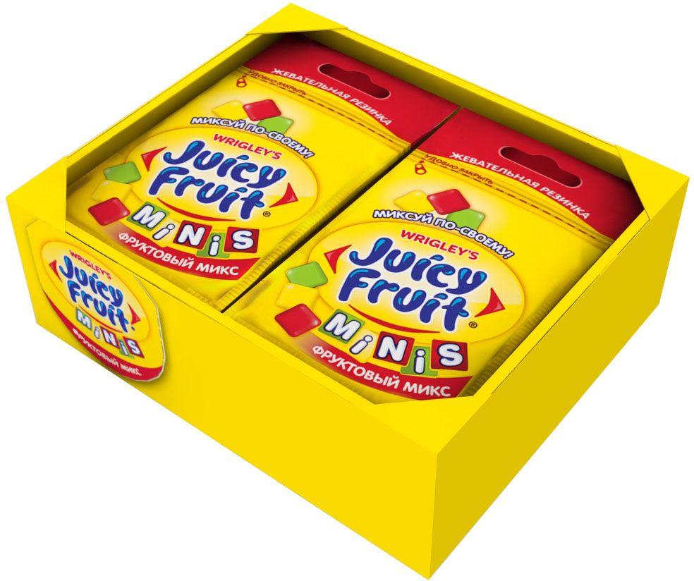 Juicy Fruit Minis Фруктовый Микс жевательная резинка, 14 пачек по 15,9 г4009900511148Фруктовый микс вкусов: Классический фруктовый, Яблоко, Клубника. Инновационный продукт, первая жевательная резинка с тремя разными вкусами в одной пачке. Возможность миксовать вкусы, создавая свой собственный неповторимый Джуси Фрут!