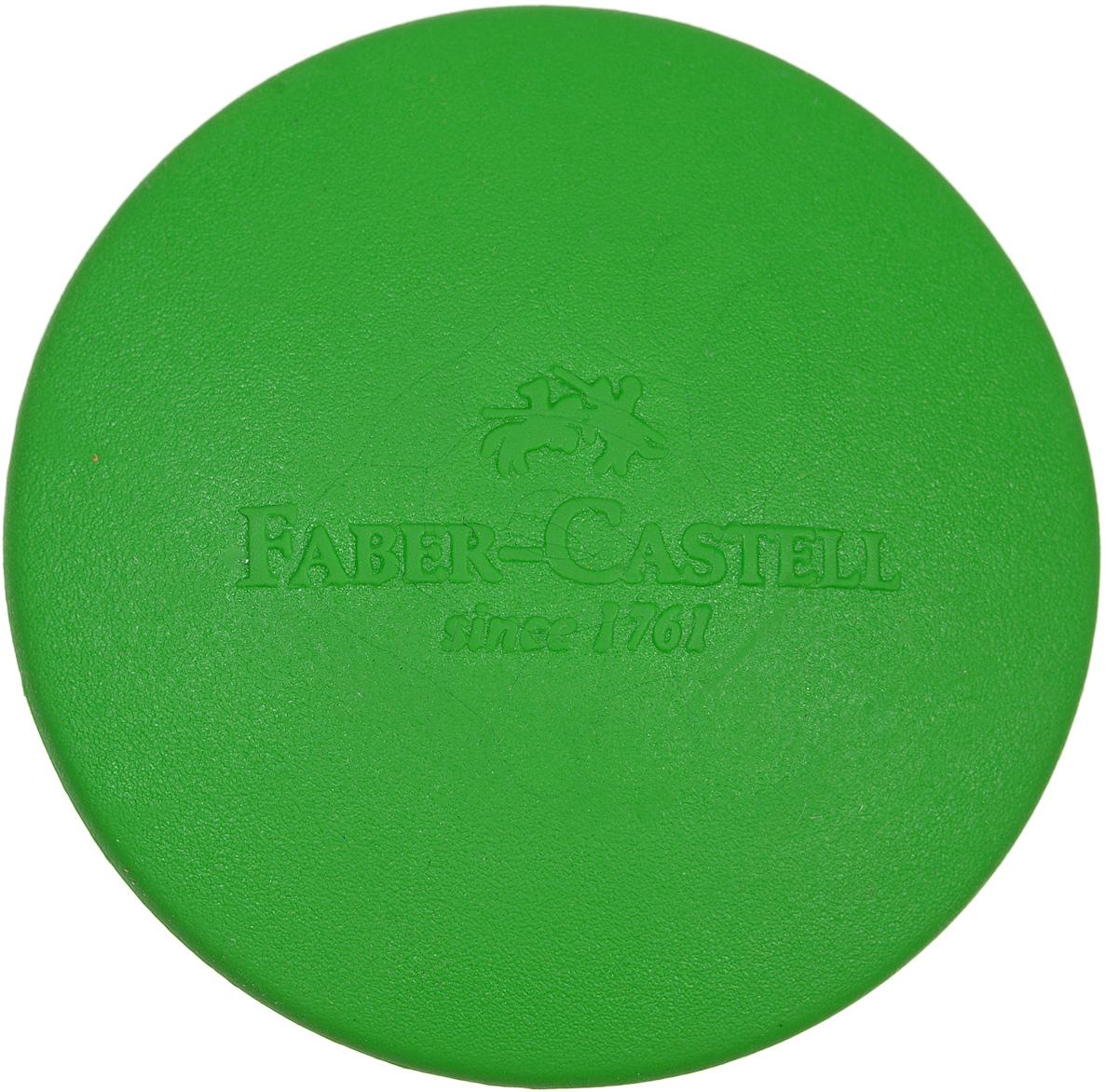 Faber-Castell Ластик цвет зеленый589022_зеленыйКруглый ластик Faber-Castell - незаменимый аксессуар на рабочем столе не только школьника или студента, но и офисного работника. Он легко и без следа удаляет надписи, сделанные карандашом. Благодаря удобной форме его комфортно держать в руке.