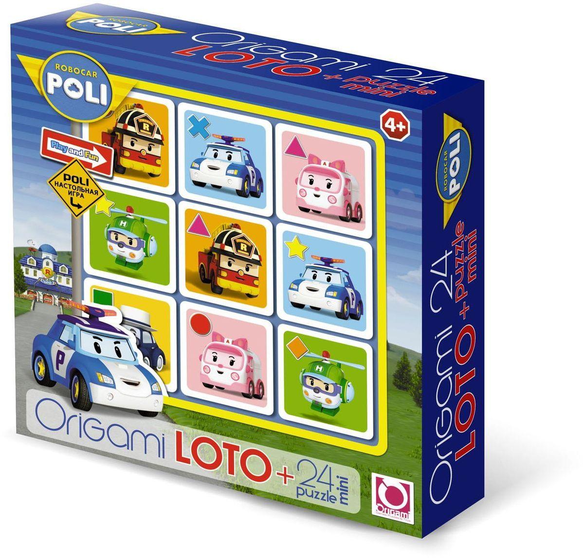 Оригами Комплект игр лото и пазл Robocar00230Игра ЛОТО знакомит детей с окружающим миром , расширяет кругозор . Лото позволяет моделировать множество различных игровых ситуаций. В процессе игры развивается логическое мышление , наблюдательность , внимание , память, совершенствуется мелкая моторика рук. Размер пазла 15х9,8. Рекомендуемый возраст 4+