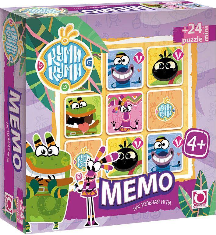 Оригами Обучающая игра Куми-Куми 0073100731Это очень увлекательная игра для тренировки памяти у малышей. Она является классической игрой на запоминание и направлена на развитие логического мышления, внимания, зрительной памяти, наблюдательности и образного восприятия. Юморные персонажи волшебного мира Куми-Куми словно оживают на игровом поле, вызывая своими смешными мордашками , улыбку.