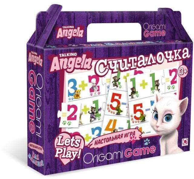 Оригами Обучающая игра Считалочка 0098200982Вместе с веселым Томом и его друзьями ребенок научится решать простые примеры на сложные и вычитание цифр. В набор входят парные карточки - пример и ответ: «1» + «1» и «2», «5» - «2» и «3». Все карточки снабжены пазловыми замками, поэтому ребенок не сможет совершить ошибку в решении и совместить неподходящие друг другу детали.Эта игра поможет улучшить свои знания тем, кто уже умеет считать, и научит тех, кто только начинает это делать.Размер пазла 34х23.Рекомендуемый возраст 3+
