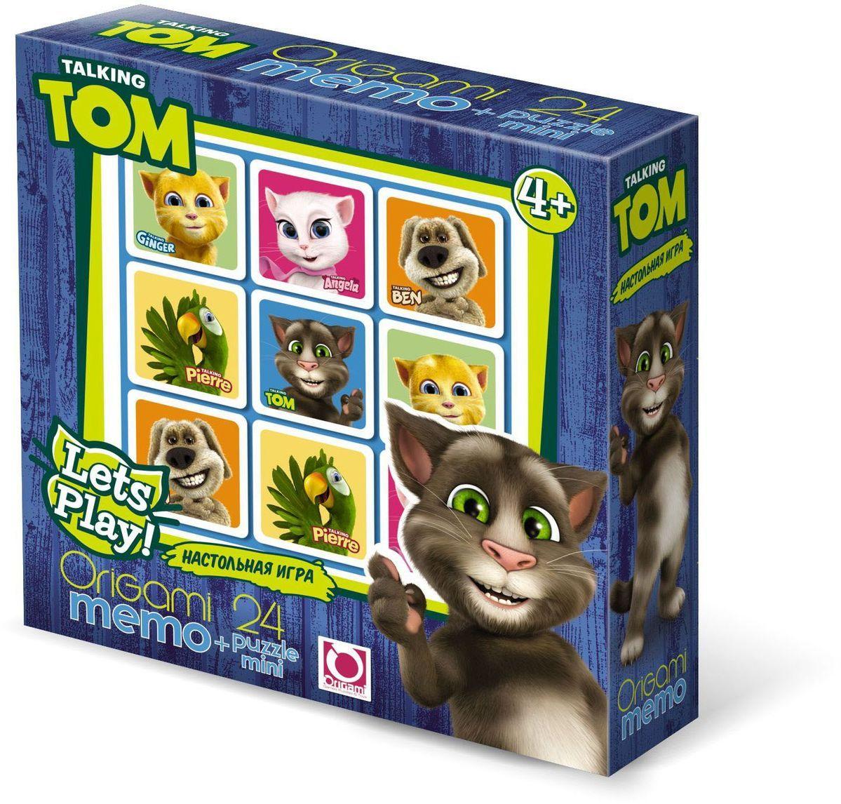 Оригами Комплект игр Talking Tom & Friends Мемо + пазл01011Настольная игра Мемо - это очень увлекательная игра для тренировки памяти у малышей. Она является классической игрой на запоминание, и направлена на развитие логического мышления, внимания, зрительной памяти, наблюдательности и образного восприятия. Размер пазла 15х9,8. Рекомендованный возраст 4+