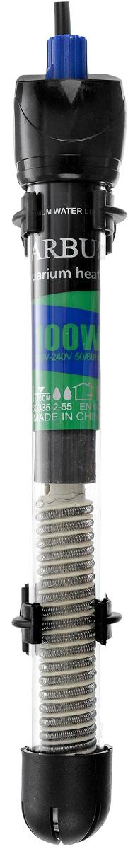 Обогреватель для аквариума Barbus HL-100W, стеклянный, с терморегулятором, 100 ВтHL-100WОбогреватель для аквариума Barbus HL-100W оснащен легкой и точной регулировкой температуры. Термостат поддерживает заданную температуру. Нагревательный элемент имеет высокую эффективность. Колба выполнена из высококачественного кварцевого стекла. Для полного погружения. Изделие крепится при мощи двух присосок на стенку аквариума. В комплект входит инструкция по эксплуатации. С таким обогревателем ваш уход за жителями аквариума станет еще приятнее и проще. Мощность: 100 Вт. Напряжение: 220-240 В. Частота: 50/60 Гц. Рекомендуемый объем аквариума: 90-120 л. Диапазон температуры эксплуатации: 20-32°C.