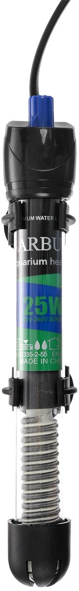 Обогреватель для аквариума Barbus HL-25W, стеклянный, с терморегулятором, 25 ВтHL-25WОбогреватель для аквариума Barbus HL-25W оснащен легкой и точной регулировкой температуры. Термостат поддерживает заданную температуру. Нагревательный элемент имеет высокую эффективность. Колба выполнена из высококачественного кварцевого стекла. Для полного погружения. Изделие крепится при мощи двух присосок на стенку аквариума. В комплект входит инструкция по эксплуатации. С таким обогревателем ваш уход за жителями аквариума станет еще приятнее и проще. Мощность: 25 Вт. Напряжение: 220-240 В. Частота: 50/60 Гц. Рекомендуемый объем аквариума: 10-40 л. Диапазон температуры эксплуатации: 20-32°C.