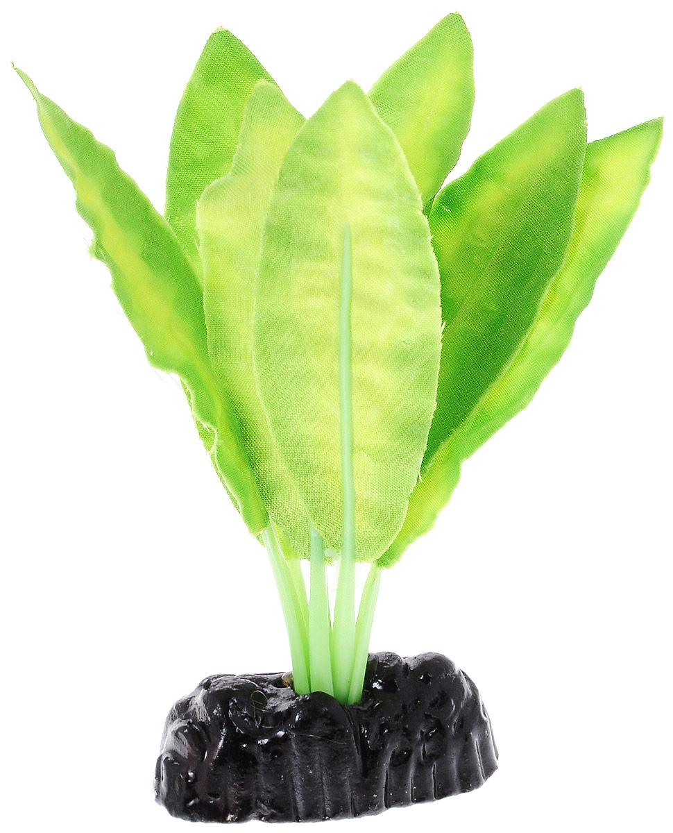 Растение для аквариума Barbus Апоногетон натанс, шелковое, высота 10 смPlant 048/10Растение для аквариума Barbus Апоногетон натанс, выполненное из качественного шелка, станет оригинальным украшением вашего аквариума. В воде создается абсолютная имитация живого растения. Можно использовать в любой воде: пресной или морской. Изделие полностью безопасно для обитателей аквариума, не токсично, нейтрально к водному балансу, устойчиво к истиранию краски. Растение Barbus поможет вам смоделировать потрясающий пейзаж на дне вашего аквариума или террариума. Высота растения: 10 см.