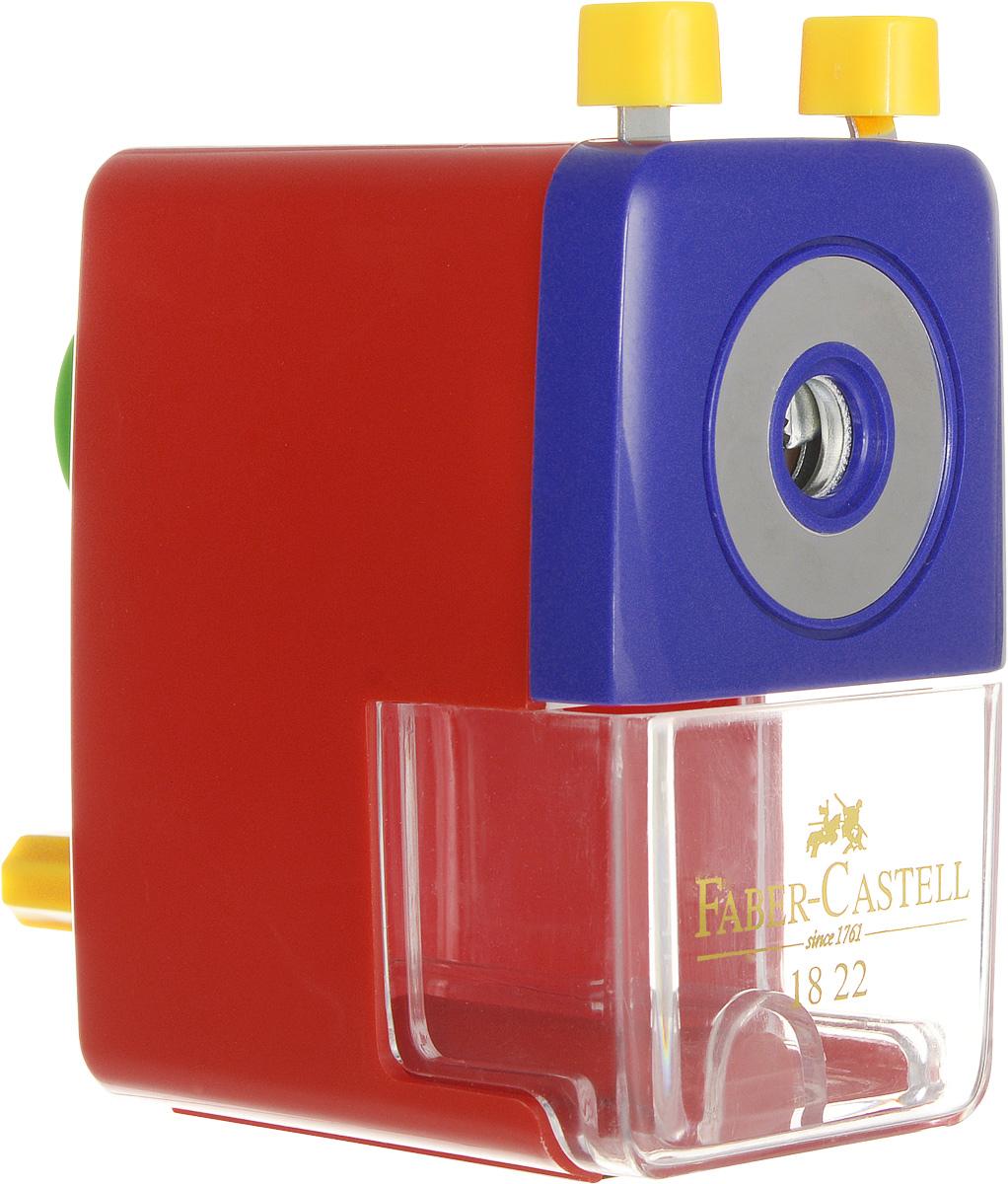 Faber-Castell Точилка настольная цвет красный582200_красныйНастольная точилка Faber-Castell предназначена для круглых, шестигранных, трехгранных и цветных карандашей. Изделие имеет прочное спиральное лезвие, предназначенное для максимально острой заточки карандашей. Точилка оснащена прозрачным контейнером для стружек и специальным зажимом для крепления к столу. Подходит для карандашей диаметром до 8 мм.