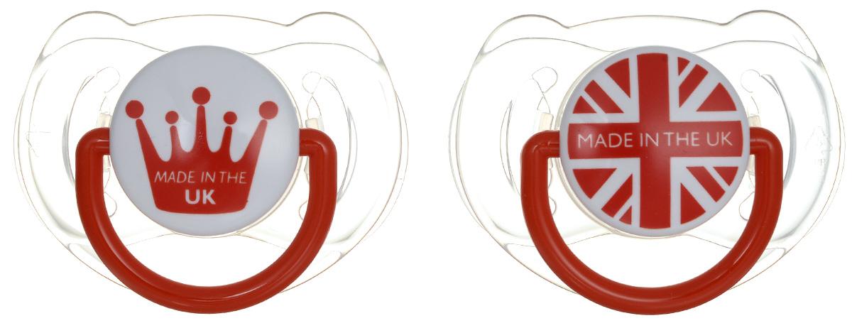 Philips Avent Пустышка силиконовая ортодонтическая от 6 до 18 месяцев цвет красный 2 шт SCF172/30