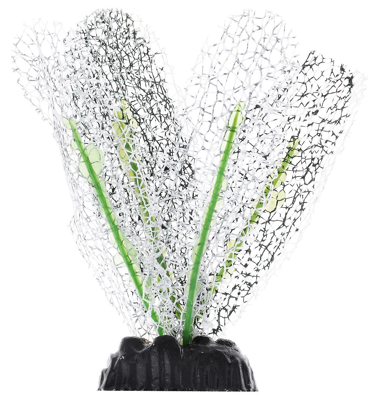 Растение для аквариума Barbus Апоногетон натанс, шелковое, цвет: белый, высота 10 смPlant 042/10Растение для аквариума Barbus Апоногетон натанс, выполненное из качественного шелка, станет оригинальным украшением вашего аквариума. В воде создается абсолютная имитация живого растения. Можно использовать в любой воде: пресной или морской. Изделие полностью безопасно для обитателей аквариума, не токсично, нейтрально к водному балансу, устойчиво к истиранию краски. Растение Barbus поможет вам смоделировать потрясающий пейзаж на дне вашего аквариума или террариума. Высота растения: 10 см.