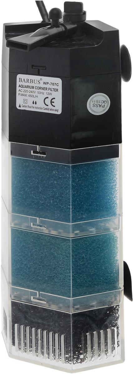 Био-фильтр секционный Barbus, 650 л/ч, 12 Вт FILTER 008