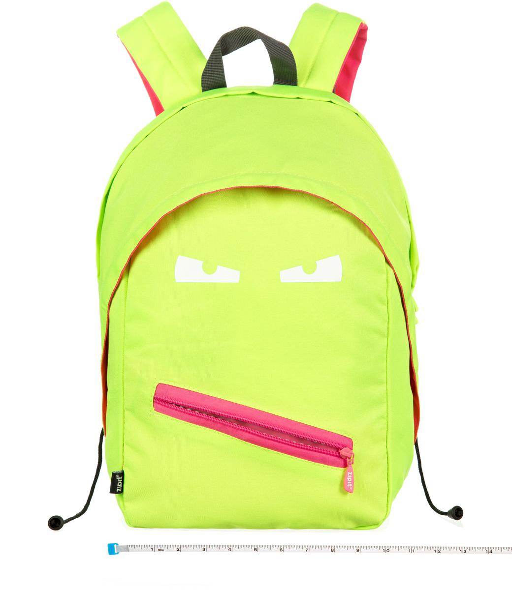 Zipit Рюкзак Grillz Backpacks цвет лаймZBPL-GR-3Классный дизайн - с Zipit Grillz рюкзак дети будут с хорошим настроением весь день! Крыша, глаза и растегивающийся рот - это отличает рюкзак от других! У рюкзака одно основное отделение и один маленький внешний карман. Мягкая спинка и регулируемые мягкие ремни - все, что нужно для комфорта!