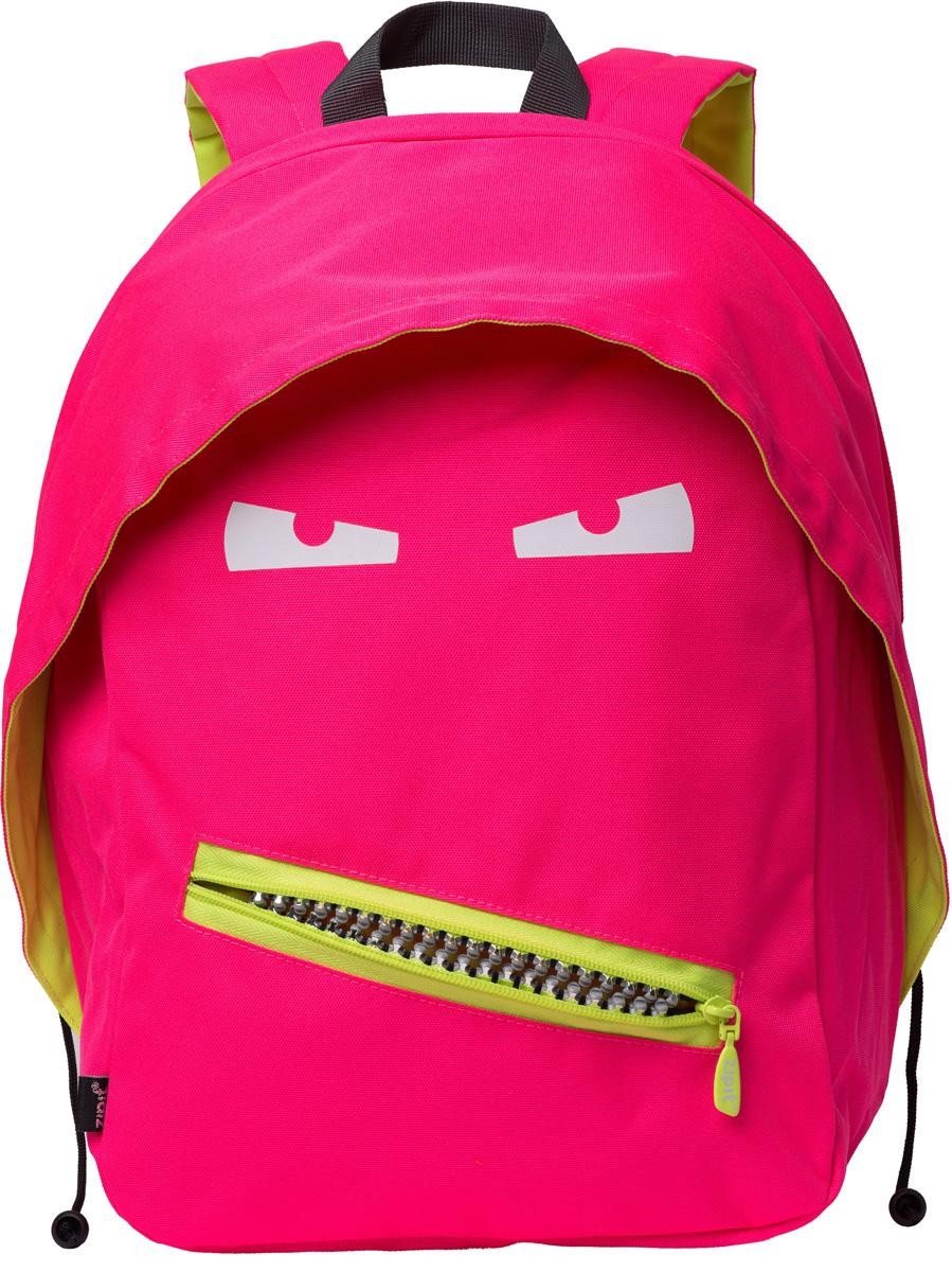 Zipit Рюкзак Grillz Backpacks цвет розовый неонZBPL-GR-4Классный дизайн - с Zipit Grillz рюкзак дети будут с хорошим настроением весь день! Крыша, глаза и растегивающийся рот - это отличает рюкзак от других! У рюкзака одно основное отделение и один маленький внешний карман. Мягкая спинка и регулируемые мягкие ремни - все, что нужно для комфорта!