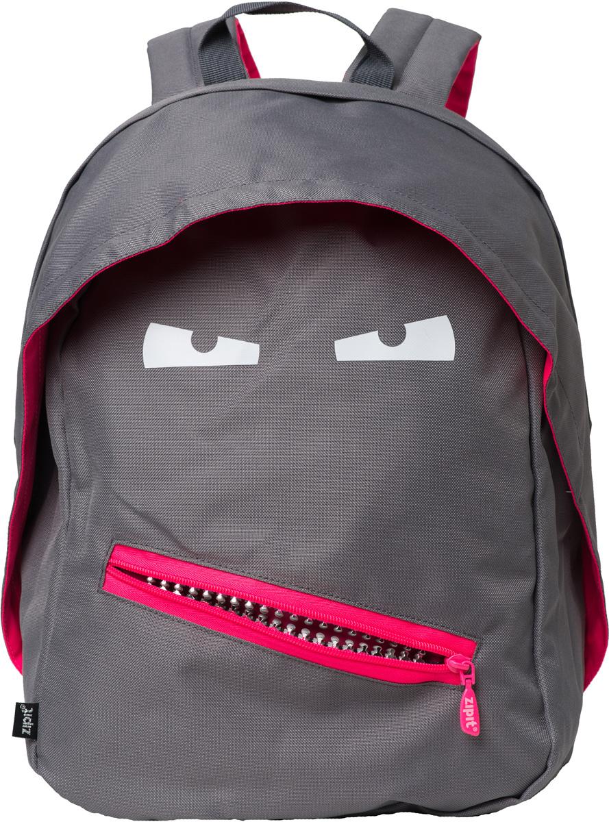 Zipit Рюкзак Grillz Backpacks цвет серыйZBPL-GR-2Классный дизайн - с Zipit Grillz рюкзак дети будут с хорошим настроением весь день! Крыша, глаза и растегивающийся рот - это отличает рюкзак от других! У рюкзака одно основное отделение и один маленький внешний карман. Мягкая спинка и регулируемые мягкие ремни - все, что нужно для комфорта!