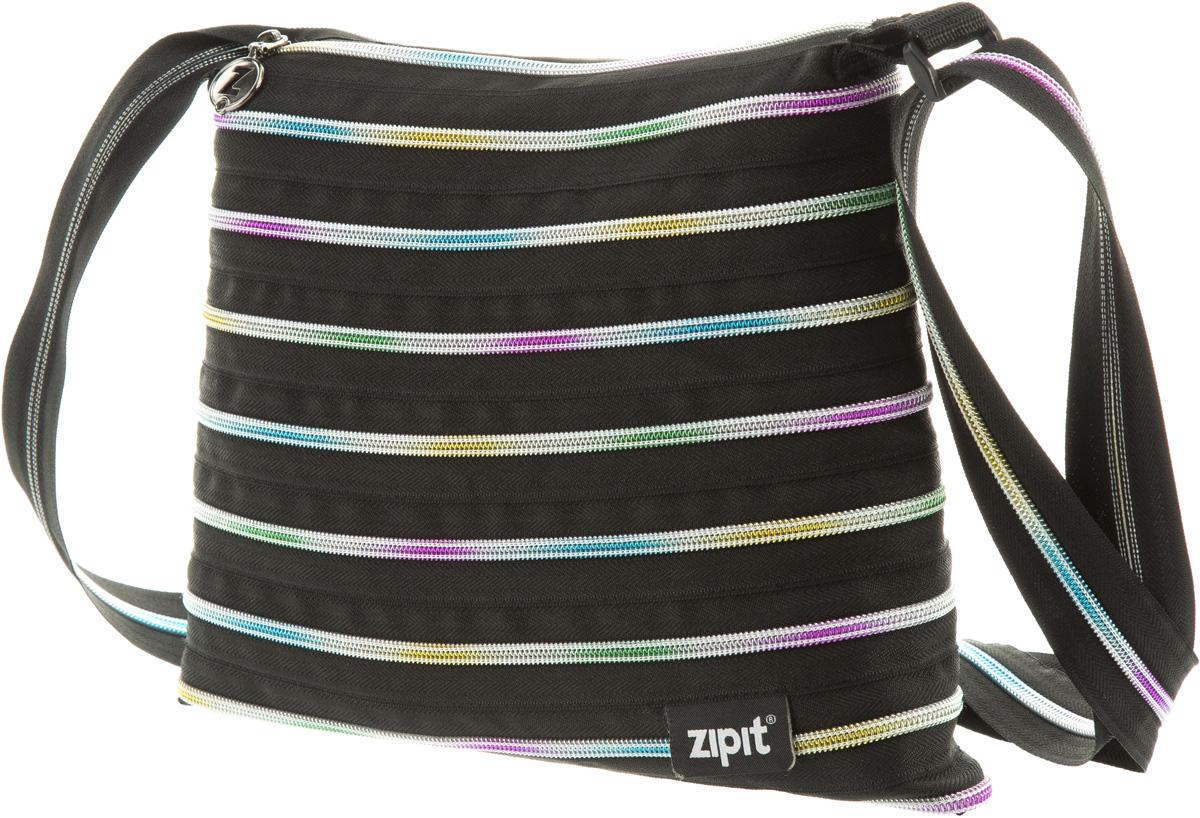 Zipit Сумка Medium Shoulder Bag цвет черный мультиZBD-8СДЕЛАН ИЗ ОДНОЙ ДЛИННОЙ МОЛНИИ! - Конструктивные особенности - одна длинная молния, которая может быть полностью растегнута! Стильная необычная сумка порадует девочек и девушек! Регулируемая лямка через плечо, различные расцветки - каждый выберет для себя то, что хочется! Выделиться из толпы и украсить ваш день поможет сумка zipit.