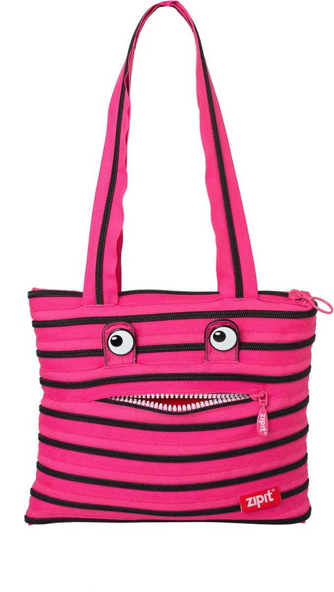 Zipit Сумка Monster Tote Beach Bag цвет розовый черныйZBZM-2СДЕЛАН ИЗ ОДНОЙ ДЛИННОЙ МОЛНИИ! - Конструктивные особенности - одна длинная молния, которая может быть полностью растегнута! Стильная необычная сумка порадует девочек и девушек! Регулируемая лямка через плечо, различные расцветки - каждый выберет для себя то, что хочется! Выделиться из толпы и украсить ваш день поможет сумка zipit.