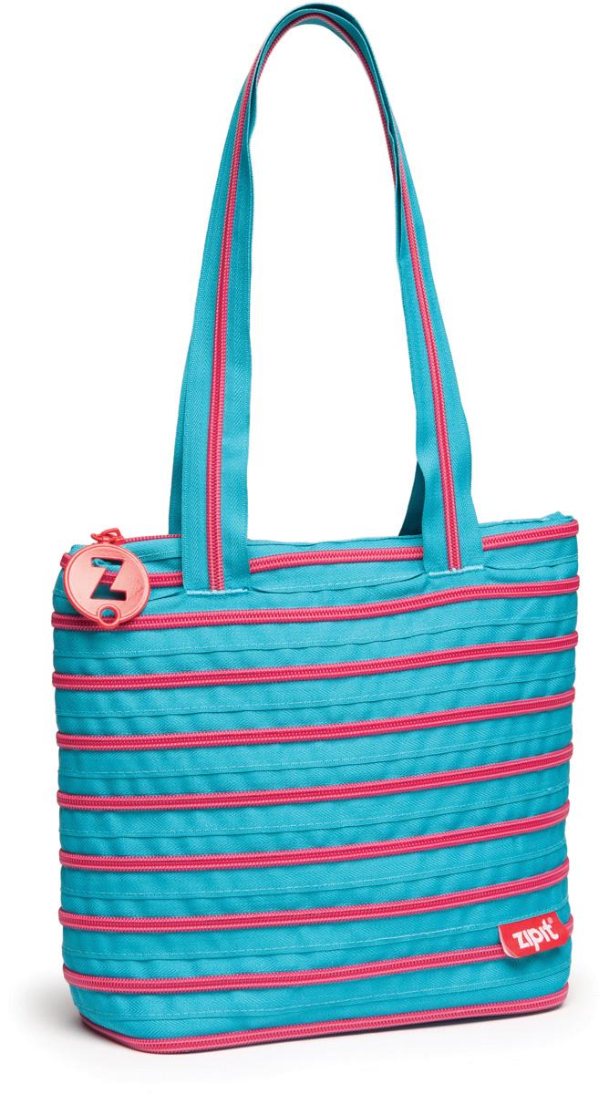 Zipit Сумка Premium Tote Beach Bag цвет голубой салатовыйZBN-15СДЕЛАН ИЗ ОДНОЙ ДЛИННОЙ МОЛНИИ! - Конструктивные особенности - одна длинная молния, которая может быть полностью растегнута! Стильная необычная сумка порадует девочек и девушек! Регулируемая лямка через плечо, различные расцветки - каждый выберет для себя то, что хочется! Выделиться из толпы и украсить ваш день поможет сумка zipit.