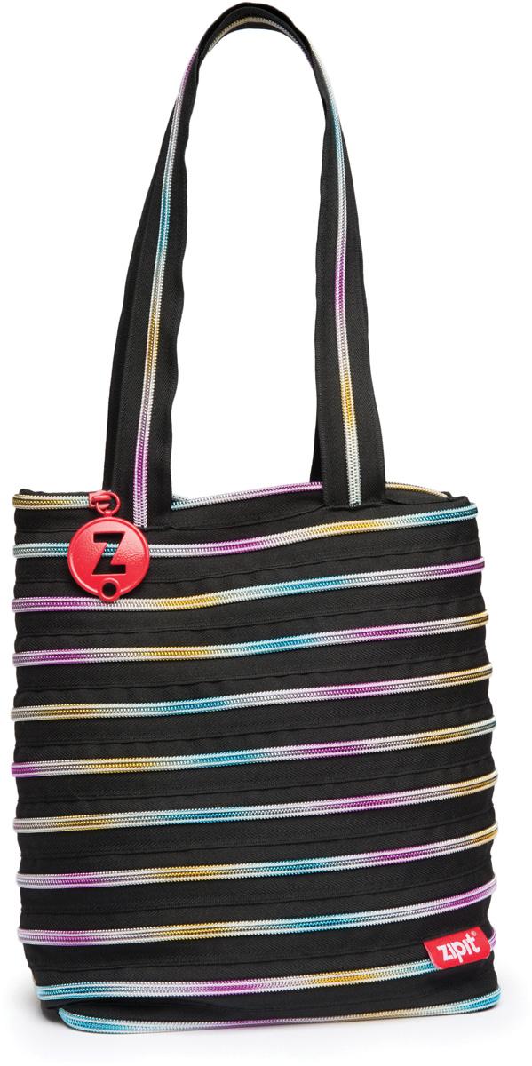 Zipit Сумка Premium Tote Beach Bag цвет черный мультиZBN-8СДЕЛАН ИЗ ОДНОЙ ДЛИННОЙ МОЛНИИ! - Конструктивные особенности - одна длинная молния, которая может быть полностью растегнута! Стильная необычная сумка порадует девочек и девушек! Регулируемая лямка через плечо, различные расцветки - каждый выберет для себя то, что хочется! Выделиться из толпы и украсить ваш день поможет сумка zipit.