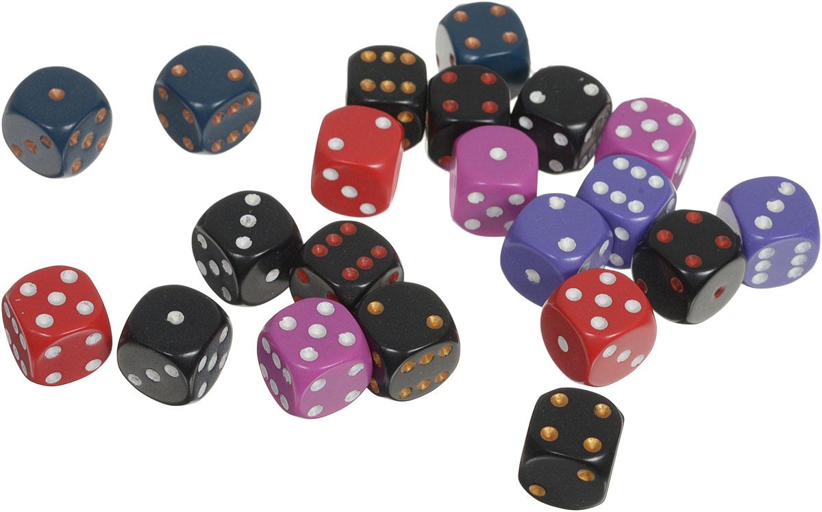 Pandoras Box Набор кубиков для настольных игр цвет черный красный фиолетовый 21 шт02CX125_черный, красный, фиолетовыйНабор игральных кубиков Pandoras Box предназначен для настольных игр. Набор состоит из двух шестигранных кубиков. На каждую сторону игральных кубиков нанесены в виде точек числа от 1 до 6. Целью броска кубика является демонстрация случайно определенного числа, каждое из которых является равновозможным благодаря правильной геометрической форме. Игральные кубики выполнены из прочного пластика.