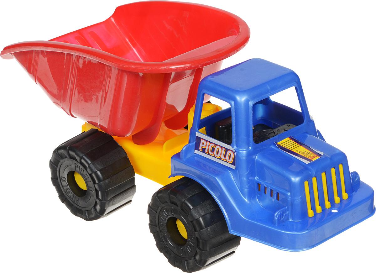 Rabbit Самосвал Пикколо цвет кабины синийП-0065_синий/красныйСамосвал Rabbit Пикколо станет прекрасным подарком для ребенка. Игрушка выполнена из прочного высококачественного пластика. Самосвал имеет просторный кузов, который можно наполнить песком или важным игрушечным грузом. Кузов игрушки откидывается, что предоставит малышу дополнительный простор для игры. Колеса машинки оснащены свободным ходом. Все элементы машинки имеют увеличенные размеры, малышу будет удобно играть с ней. Игры с такой машинкой развивают концентрацию внимания, координацию движений, мелкую моторику рук, цветовое восприятие и воображение. Малыш будет с удовольствием играть с этим самосвалом, придумывая различные истории.
