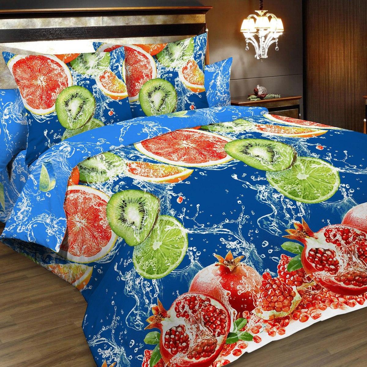 Комплект белья Letto, 1,5-спальный, наволочки 70х70. B166-3B166-3Комплект постельного белья Letto выполнен из классической российской бязи (хлопка). Комплект состоит из пододеяльника, простыни и двух наволочек. Постельное белье, оформленное сочным 3D изображением фруктов, имеет изысканный внешний вид. Пододеяльник снабжен молнией. Благодаря такому комплекту постельного белья вы сможете создать атмосферу роскоши и романтики в вашей спальне. Уважаемые клиенты! Обращаем ваше внимание на тот факт, что расцветка наволочек может отличаться от представленной на фото.