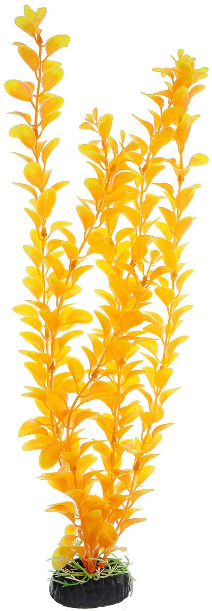 Растение для аквариума Barbus Людвигия, пластиковое, цвет: желто-оранжевый, высота 50 смPlant 012/50Растение для аквариума Barbus Людвигия, выполненное из качественного пластика, станет оригинальным украшением вашего аквариума. Пластиковое растение идеально подходит для дизайна всех видов аквариумов. Оно абсолютно безопасно, не токсично, нейтрально к водному балансу, устойчиво к истиранию краски, подходит как для пресноводного, так и для морского аквариума. Растение для аквариума Barbus поможет вам смоделировать потрясающий пейзаж на дне вашего аквариума или террариума. Высота растения: 50 см.