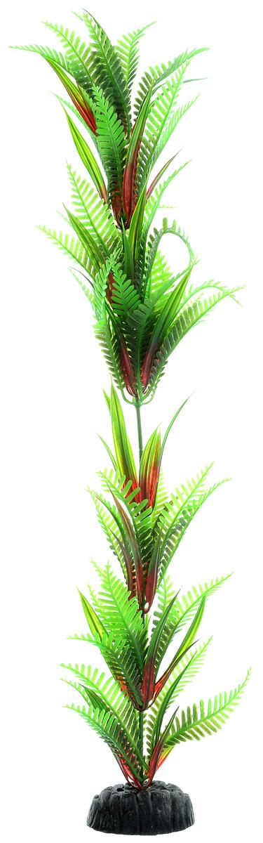 Растение для аквариума Barbus Папоротник, пластиковое, высота 50 смPlant 027/50Растение для аквариума Barbus Папоротник, выполненное из качественного пластика, станет прекрасным украшением вашего аквариума. Пластиковое растение идеально подходит для дизайна всех видов аквариумов. Оно абсолютно безопасно, нейтрально к водному балансу, устойчиво к истиранию краски, подходит как для пресноводного, так и для морского аквариума. Растение для аквариума Barbus поможет вам смоделировать потрясающий пейзаж на дне вашего аквариума или террариума. Высота растения: 50 см.