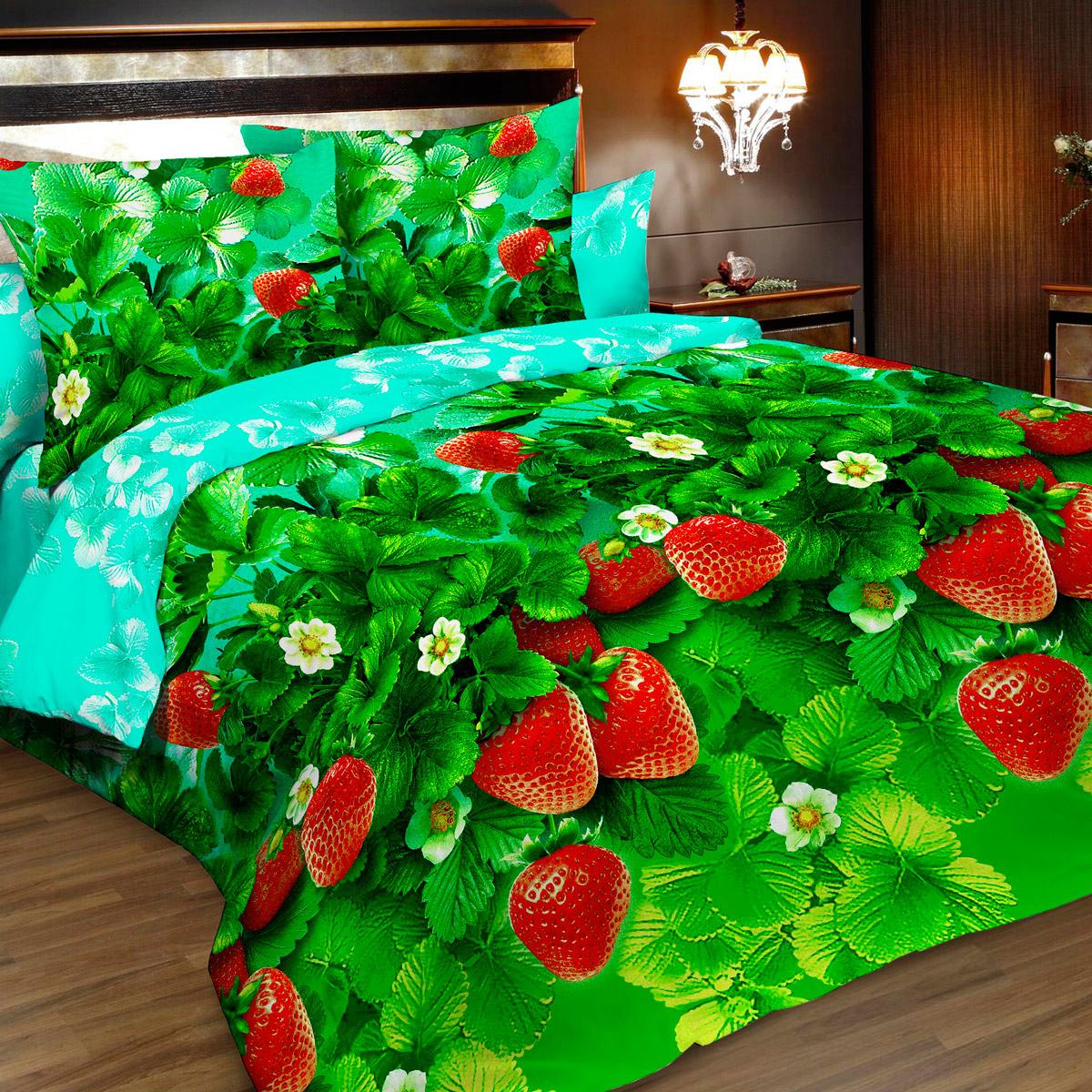 Комплект белья Letto, 2-спальный, наволочки 70х70. B173-4B173-4Комплект постельного белья Letto выполнен из классической российской бязи (хлопка). Комплект состоит из пододеяльника, простыни и двух наволочек. Постельное белье, оформленное ярким 3D изображением ягод клубники, имеет изысканный внешний вид. Пододеяльник снабжен молнией. Благодаря такому комплекту постельного белья вы сможете создать атмосферу роскоши и романтики в вашей спальне. Уважаемые клиенты! Обращаем ваше внимание на тот факт, что расцветка наволочек может отличаться от представленной на фото.