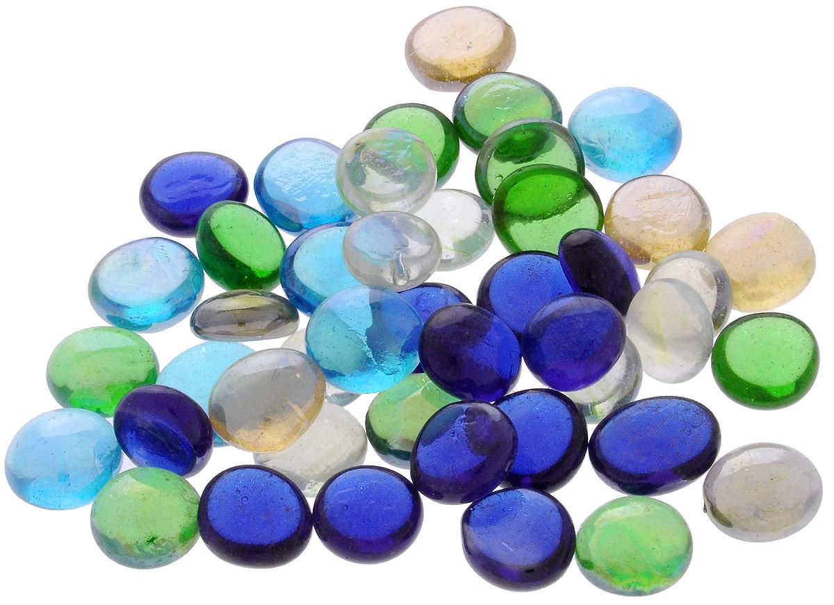 """Марблс для аквариума Barbus """"Капли"""", цвет: синий, голубой, зеленый, диаметр 1,6 см, 200 г"""