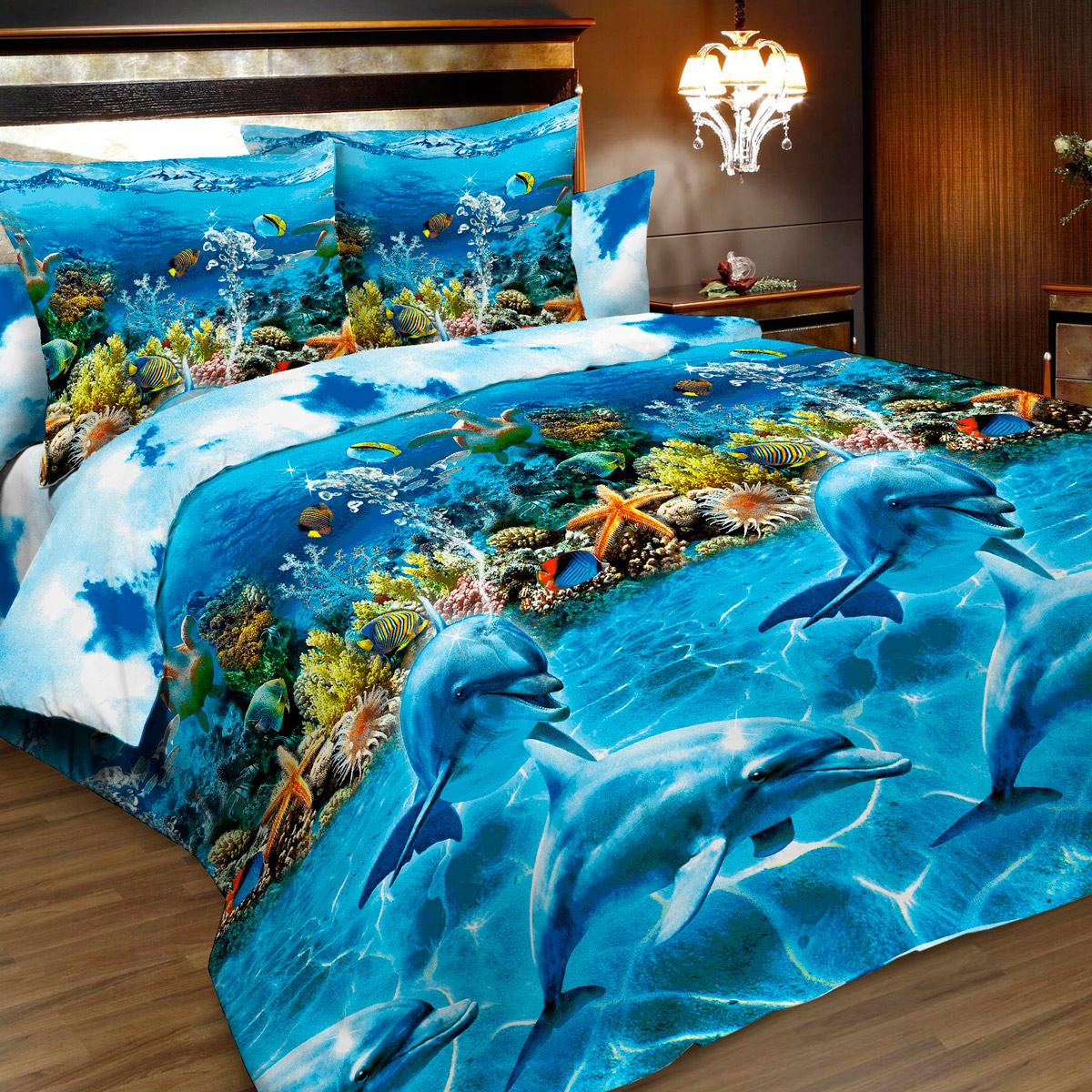 Комплект белья Letto, 1,5-спальный, наволочки 70х70. B183-3B183-3Комплект постельного белья Letto выполнен из классической российской бязи (хлопка). Комплект состоит из пододеяльника, простыни и двух наволочек. Постельное белье, оформленное 3D изображением морских обитателей, имеет изысканный внешний вид. Пододеяльник снабжен молнией. Благодаря такому комплекту постельного белья вы сможете создать атмосферу роскоши и романтики в вашей спальне. Уважаемые клиенты! Обращаем ваше внимание на тот факт, что расцветка наволочек может отличаться от представленной на фото.