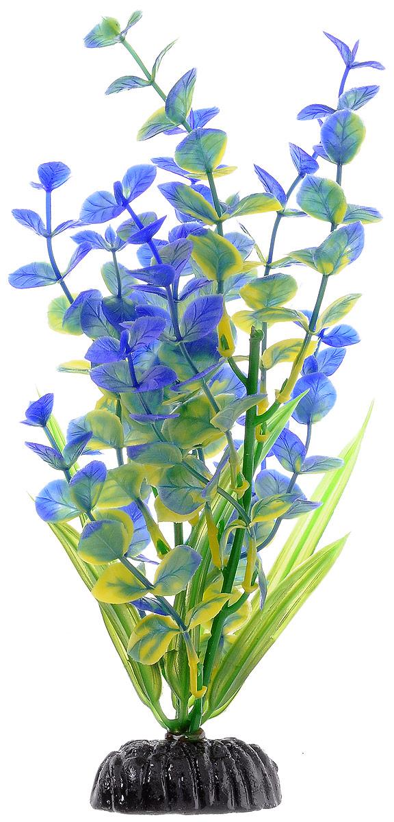 Растение для аквариума Barbus Бакопа, пластиковое, цвет: зеленый, синий, высота 20 смPlant 026/20Растение для аквариума Barbus Бакопа, выполненное из качественного пластика, станет оригинальным украшением вашего аквариума. Пластиковое растение идеально подходит для дизайна всех видов аквариумов. Оно абсолютно безопасно, нейтрально к водному балансу, устойчиво к истиранию краски, подходит как для пресноводного, так и для морского аквариума. Растение для аквариума Barbus поможет вам смоделировать потрясающий пейзаж на дне вашего аквариума или террариума. Высота растения: 20 см.