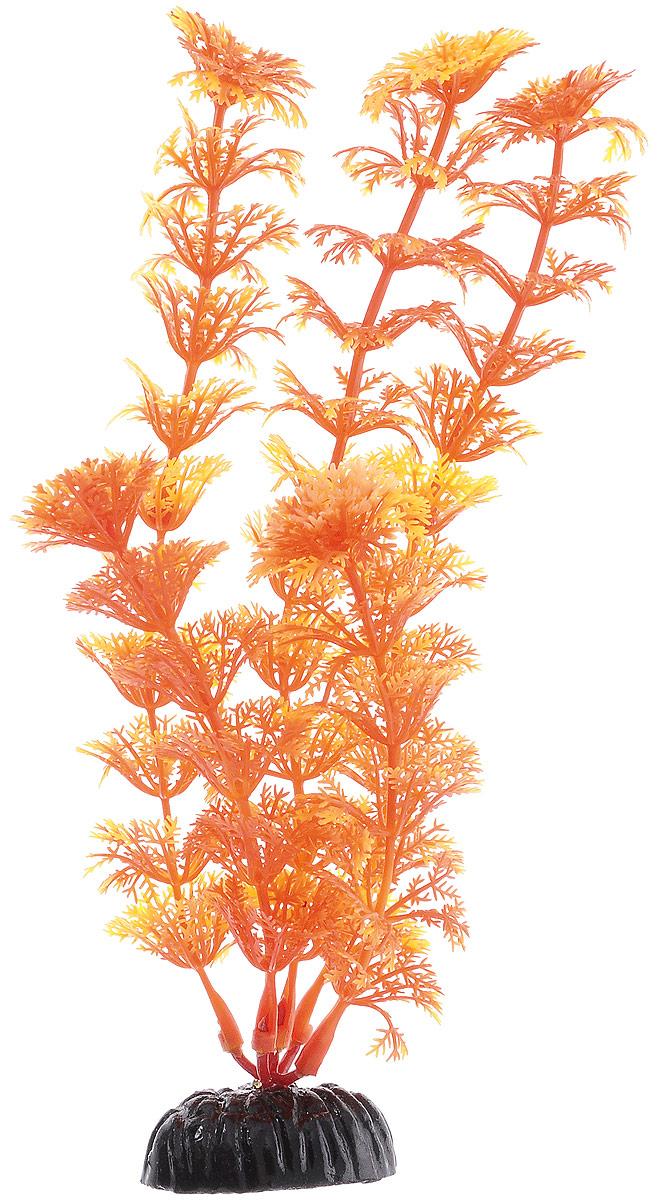 Растение для аквариума Barbus Кабомба, пластиковое, цвет: желто-оранжевый, высота 20 смPlant 021/20Растение Barbus Кабомба, выполненное из высококачественного нетоксичного пластика, станет прекрасным украшением вашего аквариума. Пластиковое растение идеально подходит для дизайна всех видов аквариумов. В воде происходит абсолютная имитация живых растений. Изделие не требует дополнительного ухода. Оно абсолютно безопасно, нейтрально к водному балансу, устойчиво к истиранию краски, подходит как для пресноводного, так и для морского аквариума. Растение для аквариума Barbus Кабомба поможет вам смоделировать потрясающий пейзаж на дне вашего аквариума. Высота растения: 20 см.