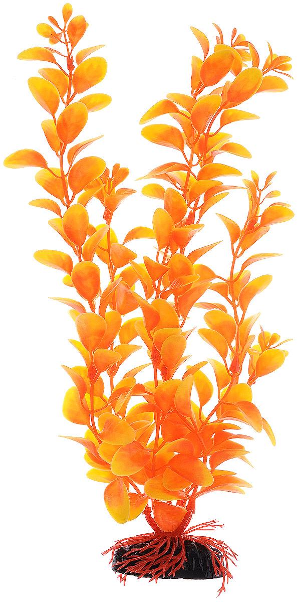 """Растение для аквариума Barbus """"Людвигия"""", пластиковое, цвет: оранжевый, высота 30 см"""