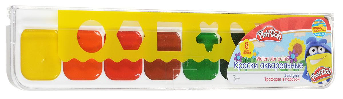 Play-Doh Краски акварельные 8 цветовPDCP-US1-QPNT-PLB8Краски акварельные (медовые), 8 цветов, кисть, пластиковый трафарет. Краски водоразбавляемые, быстро сохнут. Безопасны при использовании по назначению. Упаковка - пластиковая коробка с прозрачной крышкой, стикер - 4+0. Размер 4,6 х 21,8 х 1,4 см.
